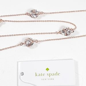 ♠Kate Spade Rose Gold Lady Marmalade Necklace. NWT